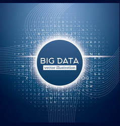 Big data blue technology background vector