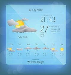 Weather widget template 4 vector image