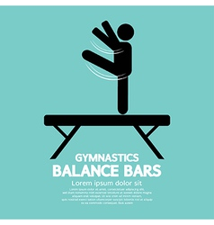 Balance bars gymnastics vector