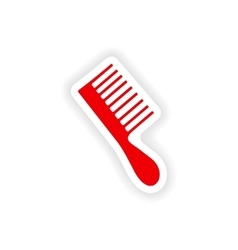 Icon sticker realistic design on paper toothbrush vector