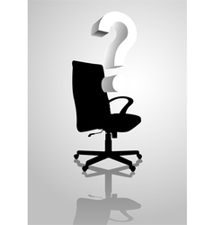 Empty chair vector