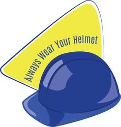 Wear your helmet vector