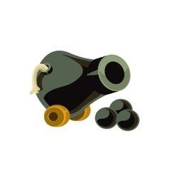 Cannon toy icon vector