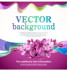Abstract design with lilac flowers vector image