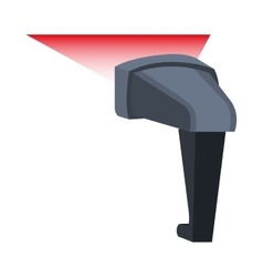 Bar code reader device icon vector