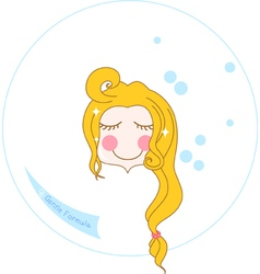 Aqua face wash vector
