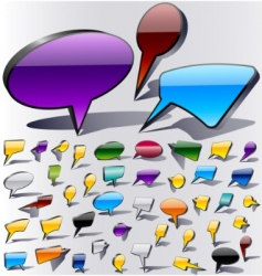 colorful speech vector image