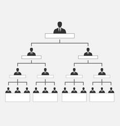 Corporate organization hierarchy vector