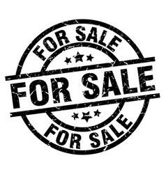 For sale round grunge black stamp vector