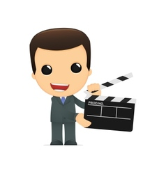 funny cartoon boss vector image vector image