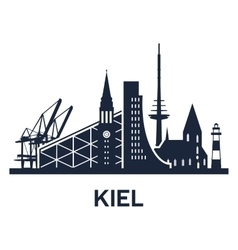 Kiel city skyline vector