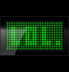 led display vector image vector image