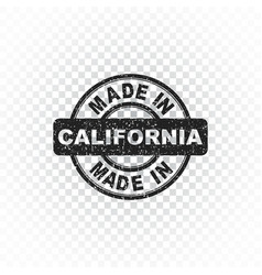 Made in california stamp on isolated background vector
