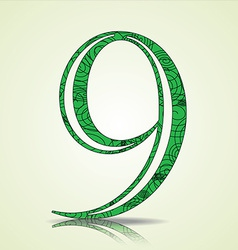 Number of Collection made of swirls - 9 vector image vector image