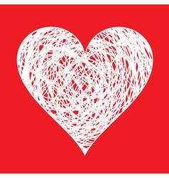 Pen drawn heart vector