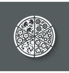 Pizza design element vector