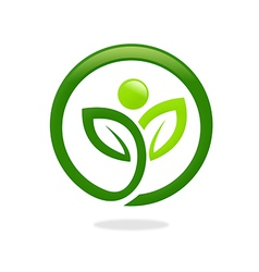 plant leaf people ecology spa logo vector image