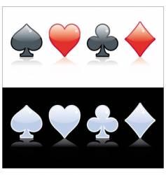 Poker symbol vector image