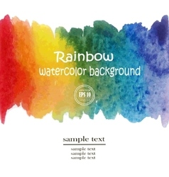 Rainbow watercolor background vector image
