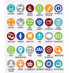 Set of internet services icons vector image vector image