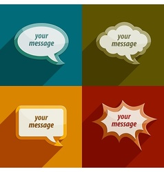 speech bubble clouds kit for vector image