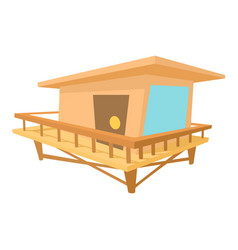 Stilt house icon cartoon style vector