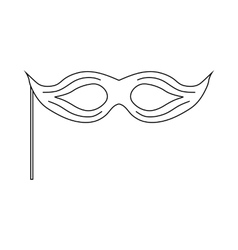 Theatrical mask icon outline style vector image