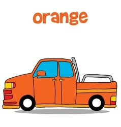 Transportation of orange car art vector