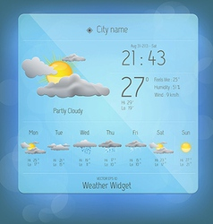 Weather widget template 4 vector