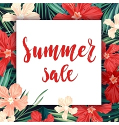 Summer sale concept calligraphy banner with vector