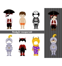 Fancy dresses collection for boy vector image