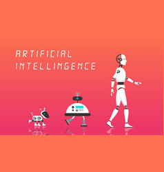 Modern robot and artificial intelligence vector
