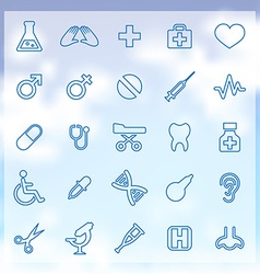 25 Medical icons vector image vector image