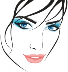 Beauty girl face design elements vector