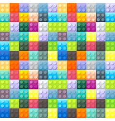Colorful plastic brick pattern vector
