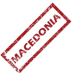 New macedonia rubber stamp vector