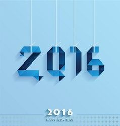 Happy new year card blue style vector