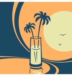 Symbol of exotic cocktails vector