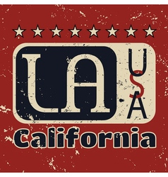 Los angeles city typography graphic grunge 1 vector