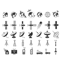 Satellite icons vector image