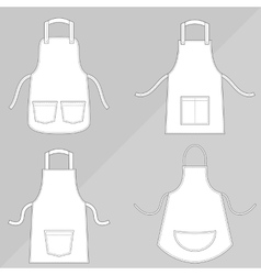 Aprons with outsets and pockets vector image