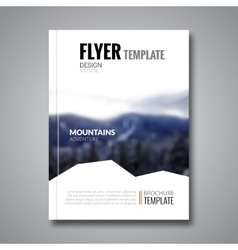 Cover magazine flyer brochure template mockup vector