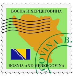 Mail to-from bosnia and herzegovina vector