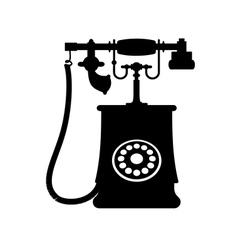 A vintage rotary dial telephone vector