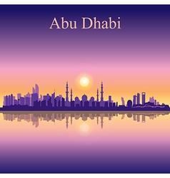 Abu dhabi skyline silhouette background vector