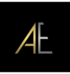 AE letters logo vector image vector image