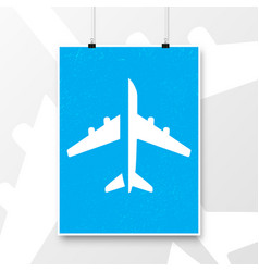 airplane vintage poster abstract aircraft design vector image vector image