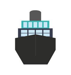Big ship icon vector