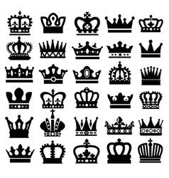 Black crowns vector