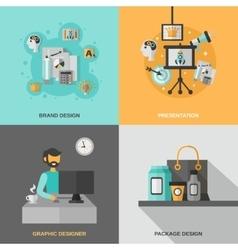 Branding Icons Set vector image